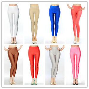 b58f33538b959 BNWT WOMEN SHINY LIQUID DANCING LEGGINGS with 10 Colors OS SS9003 | eBay