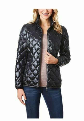 32 Degrees Heat Weatherproof Women's Down Packable Black Jacket  Sz  S  M