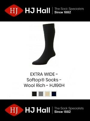 HJ90 Hall Womens Softop Loose No Elastic Wool Rich Socks