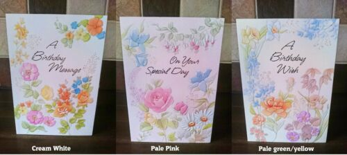 Flower Cards ** Buy 1 /& get 1 Half Price ** Birthday Cards For Her