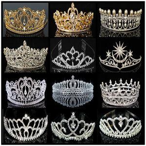 US-Bridal-Wedding-Crystal-Flower-Tiara-Crown-Pearl-Rhinestone-Hair-Headband