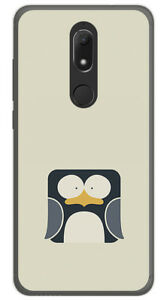 Coque-en-GEL-TPU-pour-WIKO-VIEW-PRIME-design-PINGOUIN-Dessins