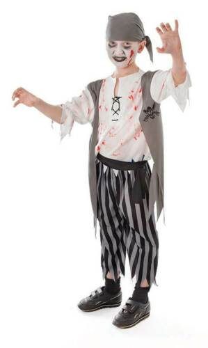 KIDS BOOK WEEK PIRATE ZOMBIE BOY CHILDS//BOYS HALLOWEEN FANCY DRESS COSTUME