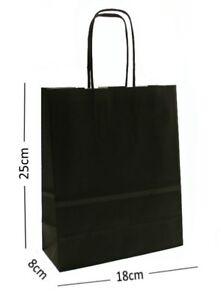 Noir-Papier-Cadeau-Sacs-de-Transport-avec-Tordue-Poignees-Choisissez