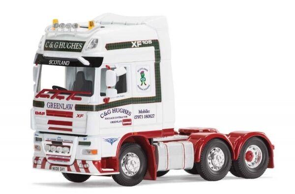 Daf xf 105 rigid tractor C & G Hughes bichonne scotland (tracteur)