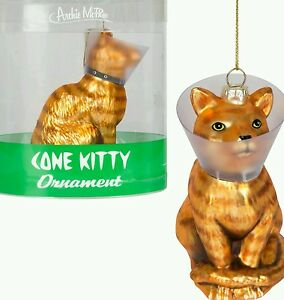 Kitty-Cat-w-Cone-Ornanent-Veterinarian-Silly-Fun-Novelty-Joke-Stocking-Stuffer