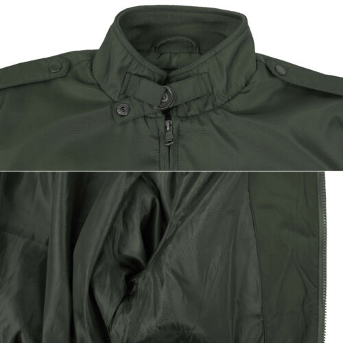 Men/'s Classic Athletic Lightweight Water Resistant Slim Fit Iconic Racer Jacket