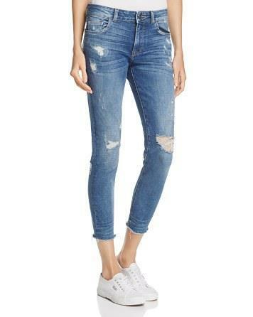 NWOT DL1961 FLORENCE UPTOWN DISTRESSED CROPPED JEANS SZ 26
