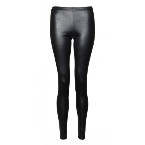 HOT Winter WarmThick Heavy Cotton and Wet Look Latex Leggings Full Length /'WetLg