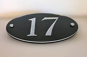 Hausnummer Hochglanz Schwarz 9H01- Türnummer - Pos Nummer - Plexiglas