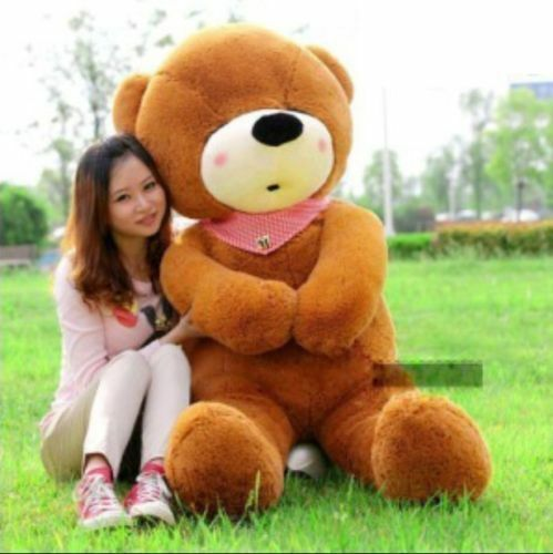 HOT GIGANTE PELUCHE SLEEPY  Marrone Scuro  TEDDY BEAR GRANDE MORBIDO regalo per la fidanzata 47