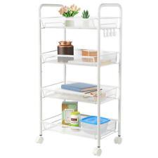 Basket Shelf Kitchen Storage With Wheels Slim Slide Out Serving Car Organizer 1P