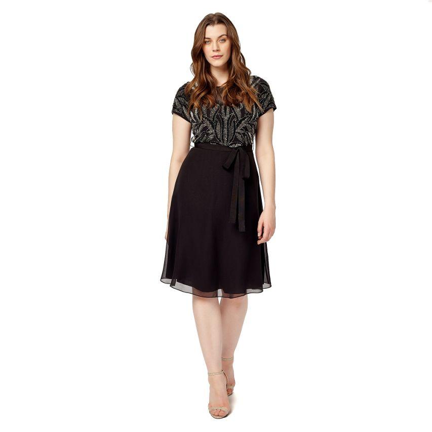 Studio 8 Phase huit Embelli Corsage Jupe Noir de soirée robe de soirée