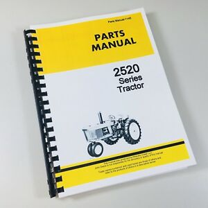 Parts Manual For John Deere 2520 Tractor Catalog Assembly Exploded
