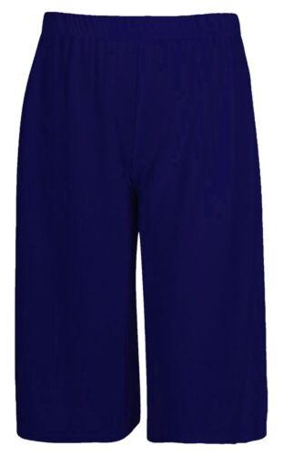 New Ladies Women Knee Length Culotte Trousers Flared Leg Crop Trouser 3//4 Pants