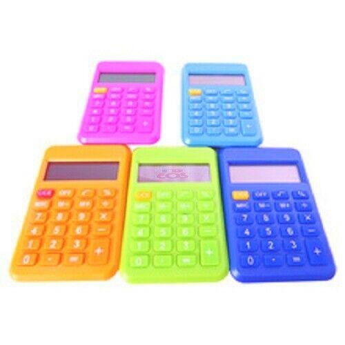 2 School Calculator Mesa  KT-188 Display 8 Digits 4.5 x 3 x 5 in Color Navy Blue