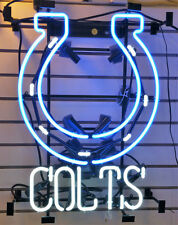 """New Indianapolis Colts NFL Man Cave Neon Sign 17""""x14"""""""