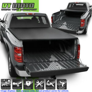JDMSPEED Roll Up Tonneau Cover For 2007-2013 Chevy Silverado GMC Sierra 6.5/' Bed