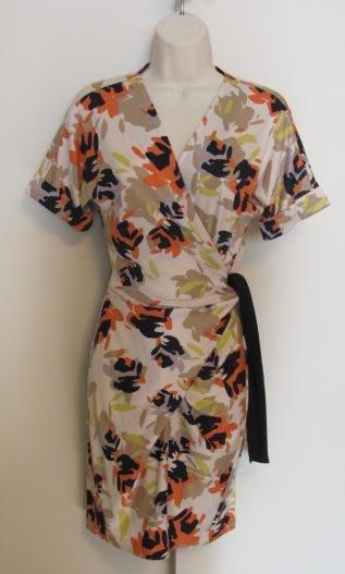 Diane von Furstenberg Arely Bright Pastel Forest dress DVF 10 silk floral coral