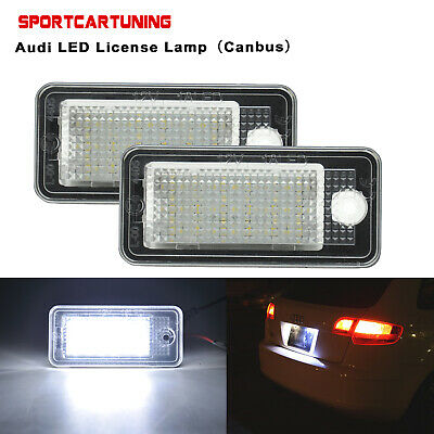 AUDI A4 2001-2004 2X NEW REAR NUMBER PLATE LIGHT LAMPS PAIR LEFT RIGHT