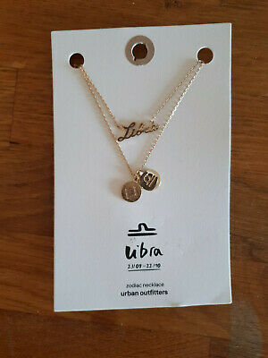 URBAN OUTFITTERS Zodiac Necklace Gold Star Sign LIBRA 23//09-22//10 RRP £16