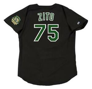 quality design a82ef 6ebd8 Details about BARRY ZITO Oakland Athletics 2000 Majestic Throwback Baseball  Jersey