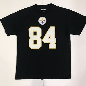 low cost 1e298 b0a1f Details about PITTSBURGH STEELERS # 84 Antonio Brown Jersey style T-shirt  Size Large