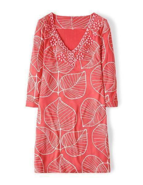 NEW Boden FREYA TUNIC - Pink Beading - Size 14 R R US