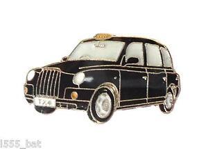 Black-Taxi-Cab-London-Hackney-Carriage-Cabbie-Car-Metal-Enamel-Pin-Badge-LTI-TX4