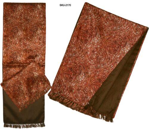 Men /& Women Premium Quality Unique Reversible Silk /& Wool Long Scarf Paisley
