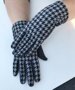 Women-039-s-Winter-Fashion-Black-And-Grey-Touch-Screen-Outdoor-Gloves