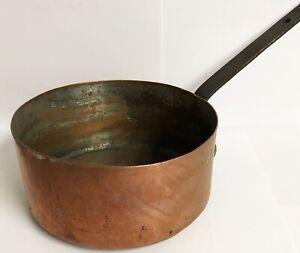 Kupfer-Antik-Topf-Kochtopf-mit-Markung-Wassertopf-Kupferform-Ku-258