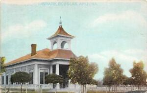 Public-Library-Douglas-Arizona-ca-1910s-Vintage-Postcard