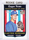 CLAYTON KERSHAW ROOKIE CARD 2008 Topps Heritage Baseball RC Los Angeles Dodgers!