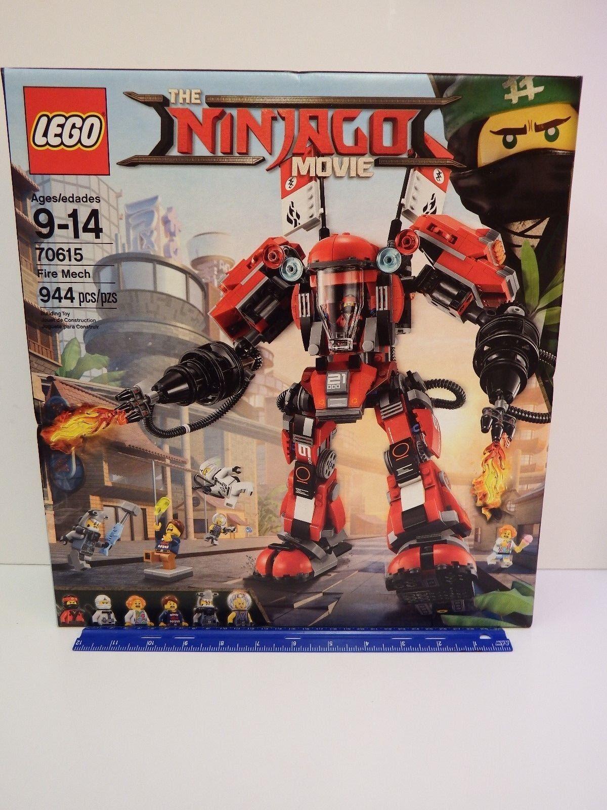 Lego Ninjago Movie Modèle Nº  70615 Fire Mech-Ensemble 944 Pièces-Âges 9-14  en stock