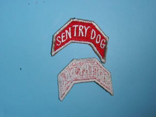 60s US Army K9 Sentry Dog tab D037 1950s