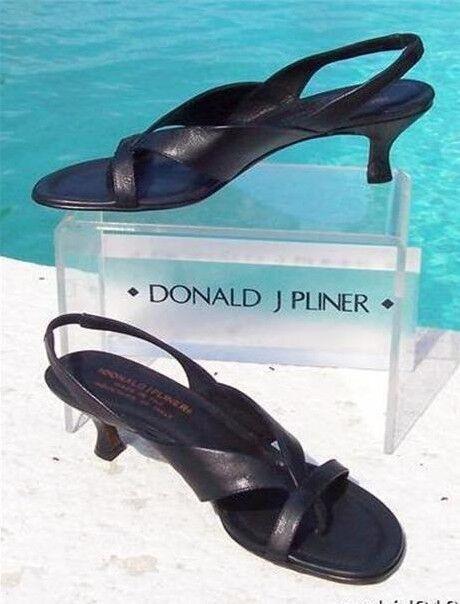 Donald Pliner Couture metálico zapato de cuero confort Sandalia práctico 6  Nuevo En Caja