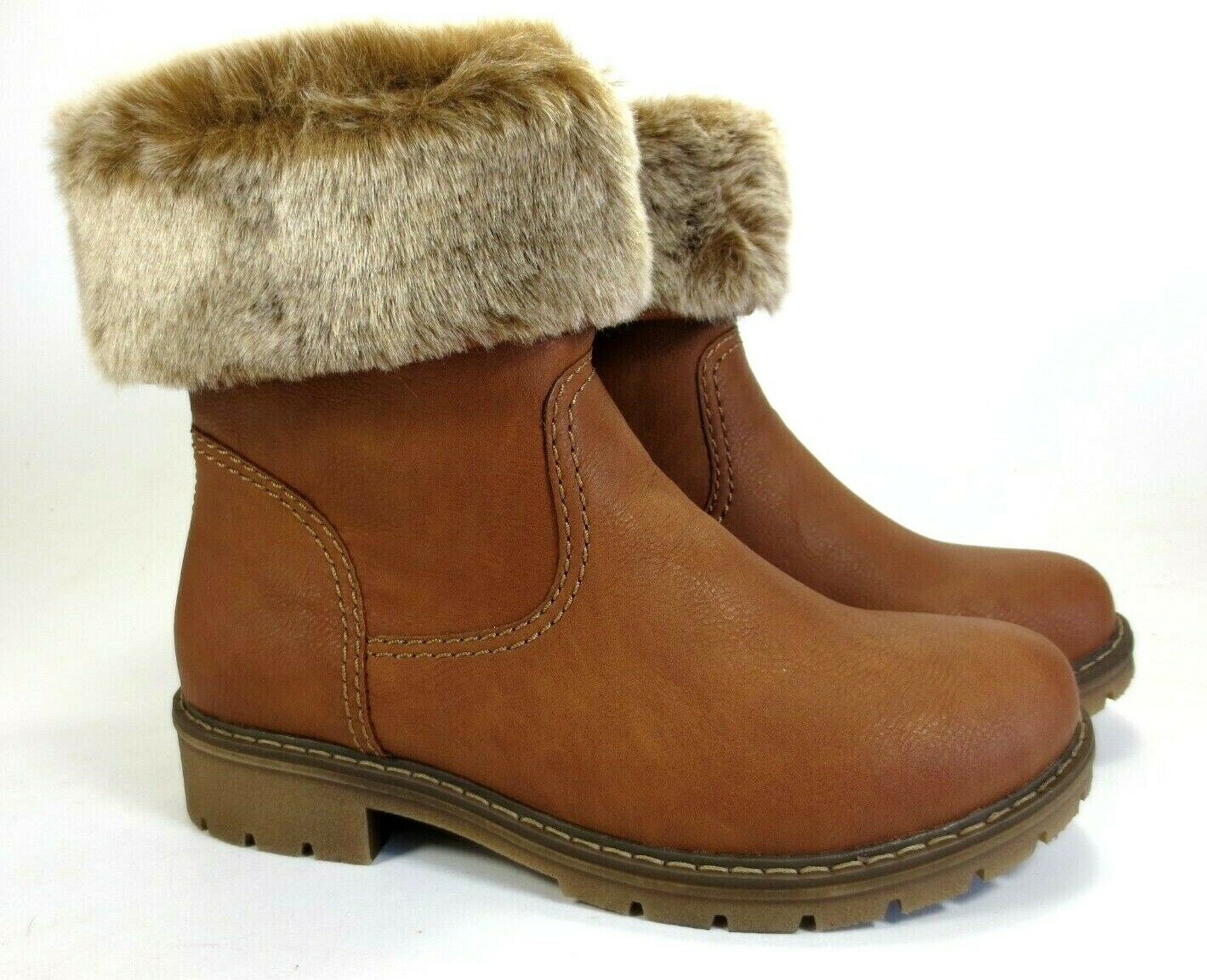 RIEKER Winter Schuhe Stiefel warm gefüttert braun Stiefeletten NEU