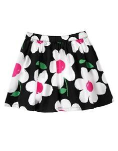 Gymboree Daisy Park Black White & Pink Floral Print Skirt Toddler Girl 4t New Baby & Toddler Clothing