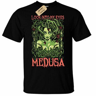 Medusa Mens T-Shirt look into my eyes female demon snakes