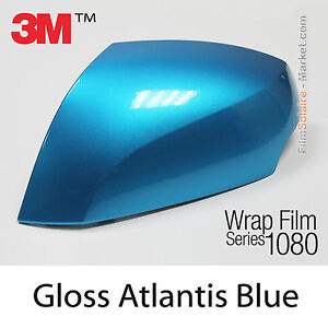 150x152cm film gloss atlantis blue 3m 1080 g327 vinyl covering series wrapping ebay. Black Bedroom Furniture Sets. Home Design Ideas
