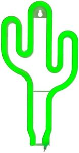 """Utile Vert Néon Lampe """"cactus"""" Pile Env. 26x14 Cm Dans Boite Cadeau-ben Ca. 26x14 Cm In Geschenkbox Fr-fr Afficher Le Titre D'origine Grandes VariéTéS"""