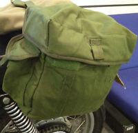 1 PAIR HEAVY-DUTY GREEN CORDURA MOTORCYCLE OR BICYCLE PANNIERS [72554]