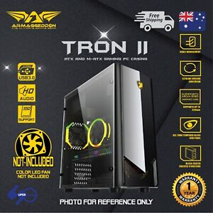 Computer-PC-Gaming-Case-ATX-Tower-Tempered-Glass-Side-Panel-without-fan-TRON-II