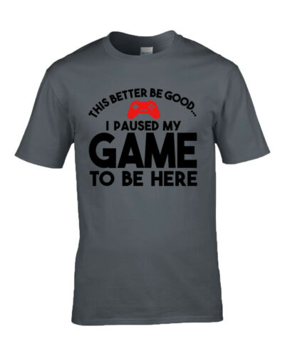 This Better Be Good I Paused My Game To Be Here Funny Gamer T shirt 7 Colours