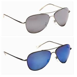 e44bc96315 Mens Ladies Classic Gun Metal Vintage Mirror Pilot Sunglasses Shades ...