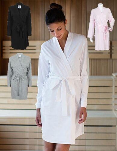 M Rose Blanc Robe de chambre tc50 Femmes Robe Peignoir Jersey Taille S Gris L Noir