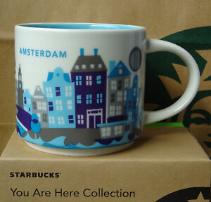 Details About Starbucks City Mug Cup You Are Here Series Yah Amsterdam Netherlands 14oz New