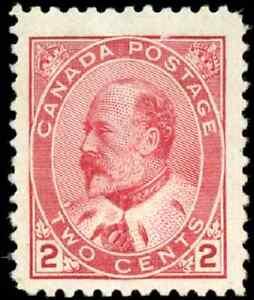 Canada-90-mint-VF-OG-VVLDG-1903-King-Edward-VII-2c-carmine-CV-100-00