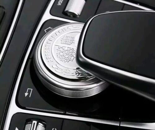 Mercedes Benz AMG Emblem Knob Cover Multimedia Control Logo Emblem Metal ALLOY